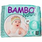 Abena Bambo Nature 2 - подгузники для детей, S (3-6 кг), 30 шт.