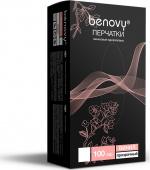 Benovy Vinyl - перчатки виниловые, гладкие, прозрачные, L, 100 пар