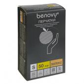 BenovyLatexChlorinated -перчаткилатексные,неопудренные, текстурированные,бежевые,S,50пар