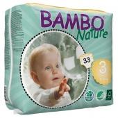 Abena Bambo Nature Midi 3 - подгузники для детей (5-9 кг), 33 шт.